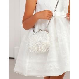 Elegantní taška se střapci pro dívku Abel & Lula 5436-71 bílá