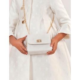 Elegantní lesklá kabelka pro dívku Abel & Lula 5437-74 krém