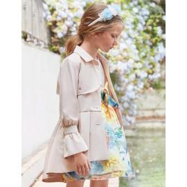 Elegantní kabát pro dívky Abel & Lula 5318-90 Béžová