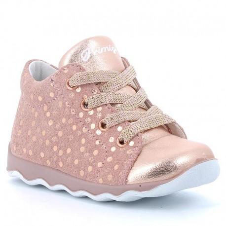 Přechodná obuv pro dívku Primigi 5353211 měď