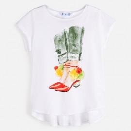Dívčí tričko s krátkým rukávem 6021-84 bílá