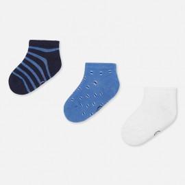 Sada 3 párů ponožek žakárového chlapce Mayoral 10734-49 Lavender