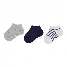 Sada 3 párů žakárových ponožek chlapce Mayoral 10734-51 šedá