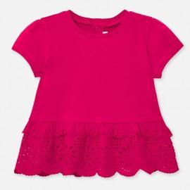 Tričko s volánkem holčičí Mayoral 1062-18 amarant