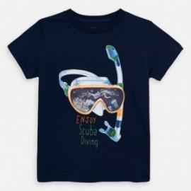 Tričko s krátkým rukávem chlapci Mayoral 3070-68 granát