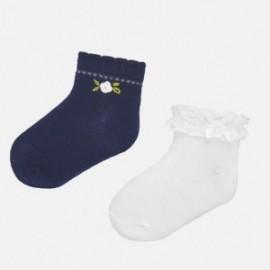 Sada 2 párů dívčích ponožek Mayoral 10738-79 granát