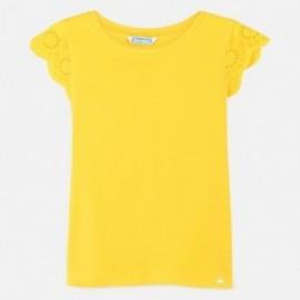 Tričko s výšivkou pro dívku Mayoral 6030-54 žlutý
