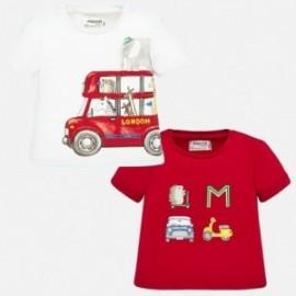Sada 2 triček pro chlapce Mayoral 1037-51 červená