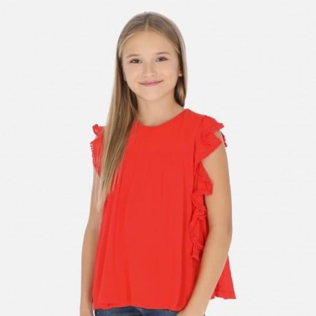 Halenka šifon holčičí Mayoral 6163-38 oranžový