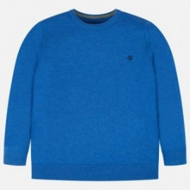 Bavlněný svetr hladký pro chlapce Mayoral 354-43 modrý
