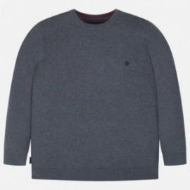Bavlněný svetr hladký pro chlapce Mayoral 354-46 šedá