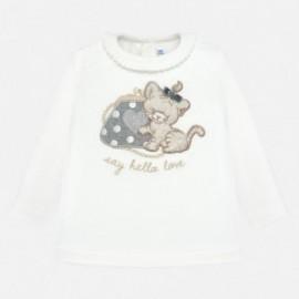 Tričko s dlouhým rukávem pro dívky Mayoral 2008-28 stříbro