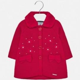 Pletený kabát starostských dívek 2427-46 červený