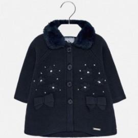 Pletený kabát starostských dívek 2427-47 granát