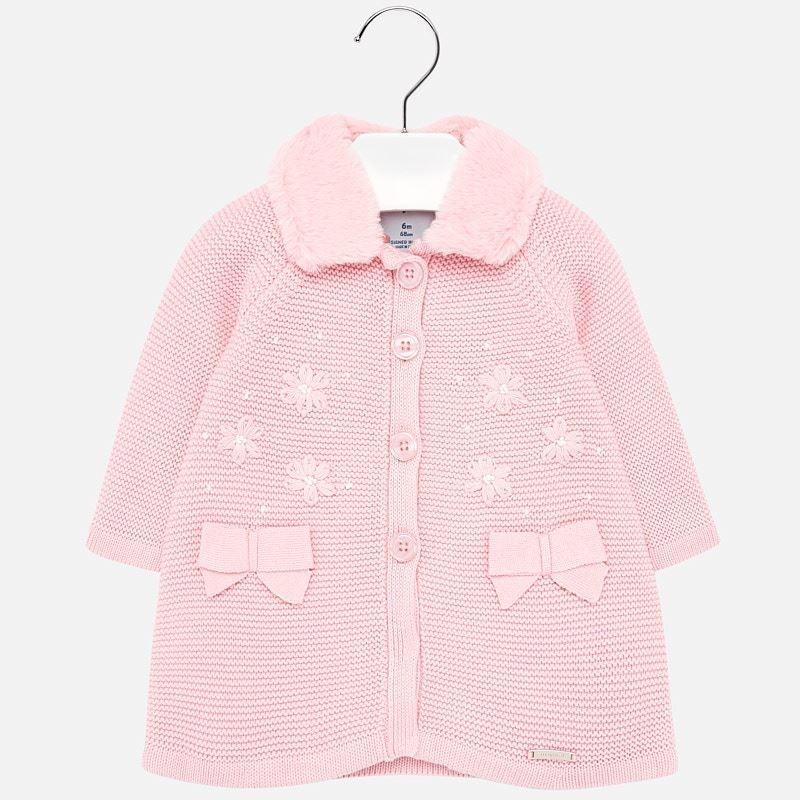 Pletený kabát Mayoral 2427-45 růžový