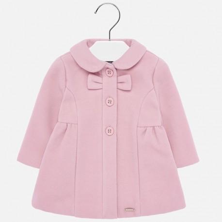 Kabát elegantní vlněný dívčí Mayoral 2428-90 růžový