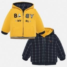 Mikina oboustrannás kapucí chlapci Mayoral 2455-39 žlutý
