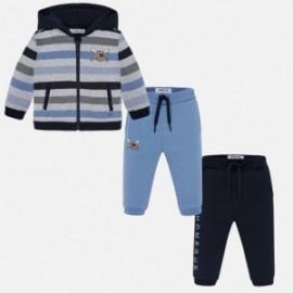 Mikina a dva páry kalhot pro chlapce Mayoral 2844-78 modrý