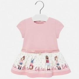 Pletené šaty pro dívku Mayoral 2921-10 růžový