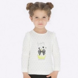 Tričko s dlouhým rukávem holčičí Mayoral 4007-72 stříbro