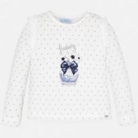 Tričko s dlouhým rukávem holčičí Mayoral 4007-73 granát