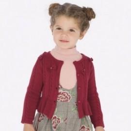Pletený svetr s luky dívčí Mayoral 4306-24 bordó