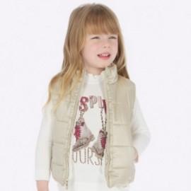 Oboustranná vesta pro dívku Mayoral 4308-59 zlato