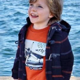 Svetr pro chlapce bez kapuce Mayoral 4426-46 oranžová