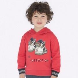 Mikina s kapucí chlapecký Mayoral 4429-81 oranžový