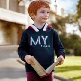 Svetr s kapucí pro chlapce Mayoral 4431-59 granát