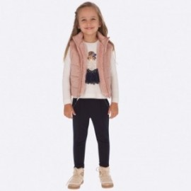 Pletené kalhoty dívky Mayoral 4501-35 granát