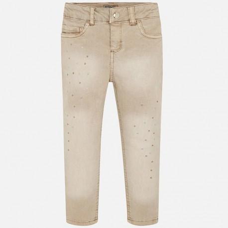 Kalhoty stínovaný dívky Mayoral 4503-38 béžový