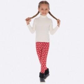 Legíny s potiskem dívky Mayoral 4706-70 červená