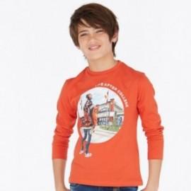 Tričko s dlouhým rukávem chlapci Mayoral 7024-83 oranžový