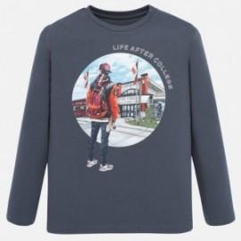 Tričko s dlouhým rukávem chlapci Mayoral 7024-84 šedá