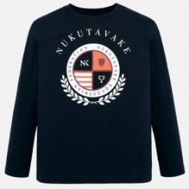 Tričko s dlouhým rukávem chlapci Mayoral 7036-18 granát