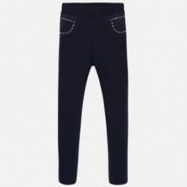 Kalhoty jegginsy s tryskami dívčí Mayoral 7504-77 granát