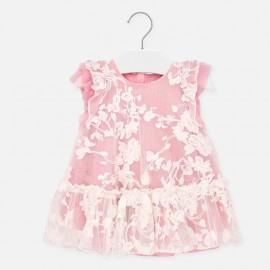 Tylové šaty pro dívku Mayoral 1910-16 růžový