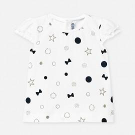 Tričko s krátkým rukávem pro dívky Mayoral 1057-58 granát
