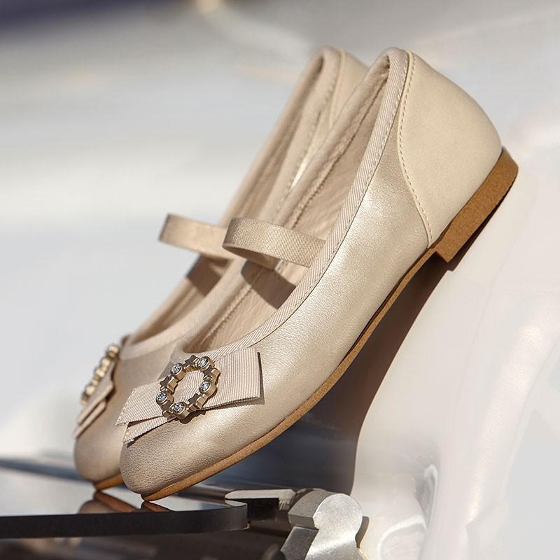 Elegantní balerínky pro dívky Mayoral 43147-80 Gold