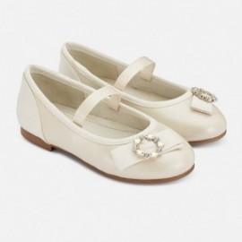Elegantní balerínky pro dívky Mayoral 43147-81 pearl