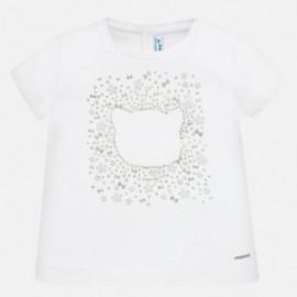 Bavlněné tričko pro dívky Mayoral 105-90 bílá