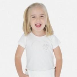Sportovní košile pro dívky Mayoral 174-88 Cream