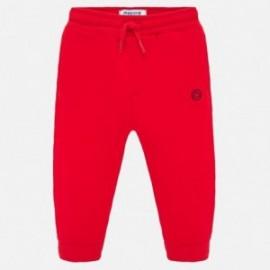 Dlouhé sportovní kalhoty pro chlapce Mayoral 711-92 červené