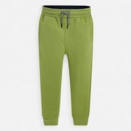 Dlouhé sportovní kalhoty pro chlapce Mayoral 742-23 zelená