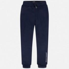 Dlouhé sportovní kalhoty pro chlapce Mayoral 744-34 granát