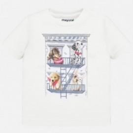Bavlněné tričko pro chlapce Mayoral 1044-37 bílá