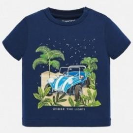 Bavlněné tričko pro chlapce Mayoral 1049-42 granát