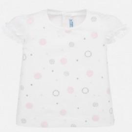 Dívčí košile Mayoral 1057-55 s krátkým rukávem růžový
