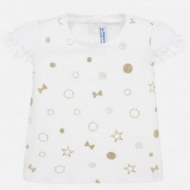 Dívčí košile Mayoral 1057-56 s krátkým rukávem béžový